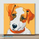 Mini-Flower Face Dog(Already Framed Canvas)