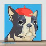 Mini-Bull dog(Already Framed Canvas)