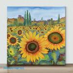 Mini – Sunflower Fields(Already Framed Canvas)
