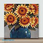 Mini – Vase Of Sunflowers(Already Framed Canvas)