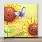 Mini – Sunflower And Butterfly(Already Framed Canvas)