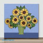 Mini – Sunflower Bouquet(Already Framed Canvas)