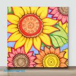 Mini – Sunflower Zen(Already Framed Canvas)