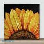 Mini – Sunflower 5(Already Framed Canvas)