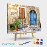 Mediterranean Door Window And Vase