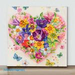 Mini-Flowering Heart(Already Framed Canvas)