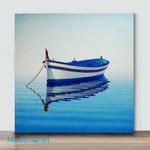 Mini -Fishing Boat III(Already Framed Canvas)