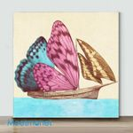 Mini -Butterfly Ship(Already Framed Canvas)