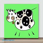 Mini – Colors series cow(Already Framed Canvas)