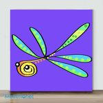 Mini – Colors series dragonfly(Already Framed Canvas)
