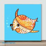Mini – Colors series fish(Already Framed Canvas)