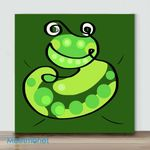 Mini – Colors series frog(Already Framed Canvas)