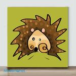 Mini – Colors series hedgehog(Already Framed Canvas)