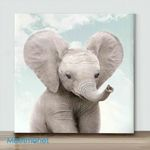 Mini-baby elephant(Already Framed Canvas)