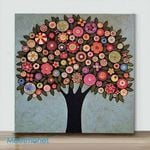 Mini – Color tree(Already Framed Canvas)