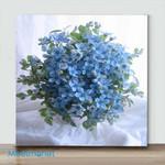 Mini – Blue flower(Already Framed Canvas)