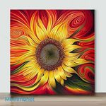 Mini – Fire and Red Flower(Already Framed Canvas)