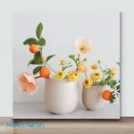 Mini-Soft Peach Silk Poppy (Already Framed Canvas)