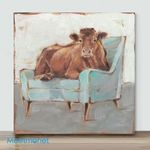 Mini-Brown Cow(Already Framed Canvas)