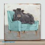 Mini-Black Cow(Already Framed Canvas)