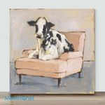 Mini-Spotted Cow(Already Framed Canvas)