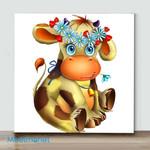 Mini-Little Cow(Already Framed Canvas)