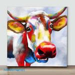 Mini-Color Spash Bovine Cow(Already Framed Canvas)