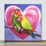 Mini-love bird(Already Framed Canvas)