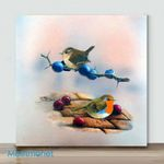 Mini – Birds with different action#12(Already Framed Canvas)
