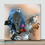 Mini – Birds with different actions#7(Already Framed Canvas)
