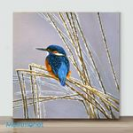 Mini – Birds with different actions#9(Already Framed Canvas)