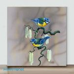 Mini – Birds with different actions#3(Already Framed Canvas)