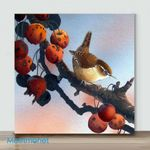 Mini – Birds with different action#11(Already Framed Canvas)