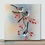 Mini – Birds with different actions#1(Already Framed Canvas)