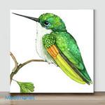 Mini-Green Hummingbird(Already Framed Canvas)