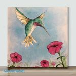 Mini-Hovering Hummer Scaled(Already Framed Canvas)