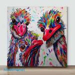 Mini -Ostrich(Already Framed Canvas)