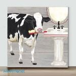 MiNi-Cow With Toothbrush(Already Framed Canvas)