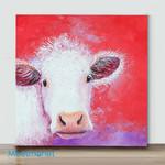 MiNi-White Cow(Already Framed Canvas)