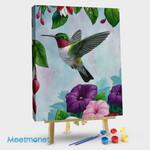 Hummingbird and Flower #09