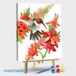 Hummingbird and Flower #01