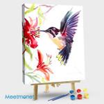 Hummingbird and Flower #04