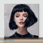 Mini-Temperament Girl(AlreadyFramedCanvas)