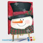 Holly & Red Plaid Snowman