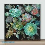 Mini -Floral Succulents On Pink(Already Framed Canvas)