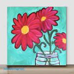 Mini-Vase flower #10(Already Framed Canvas)