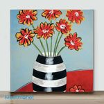 Mini-Vase flower #3(Already Framed Canvas)
