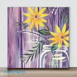 Mini-Vase flower #4(Already Framed Canvas)