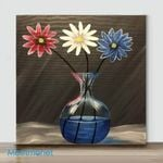 Mini-Vase flower #8(Already Framed Canvas)