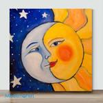 Moon And Sun-Mini DIY Paint by Number Kits(Already Framed Canvas)